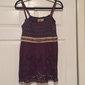 Plum colored Free People Tank